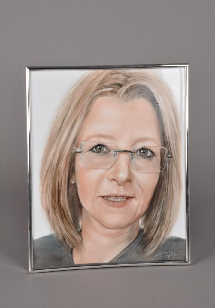Portrait auf Porzellan